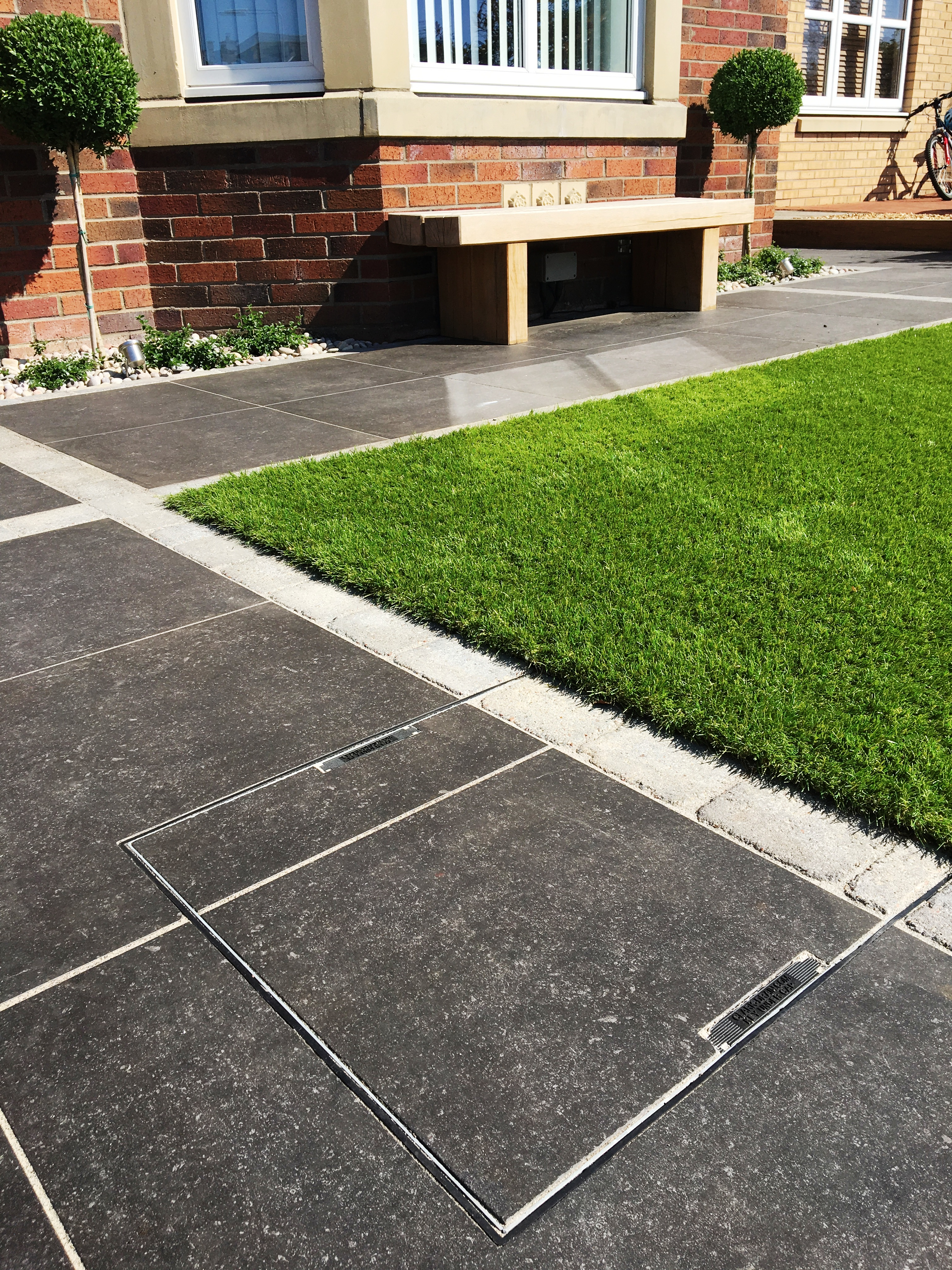 Vitrified Paving Oak Sleepers Amp Artificial Grass In