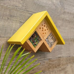 Insect hotel yellow