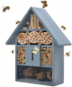 Insect hotel blue