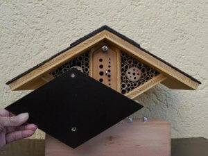 Insect hotel inside