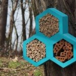 Insect hotel blue, 3 shape