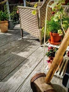 composite decking in garden