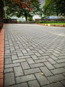 Permable driveway close up