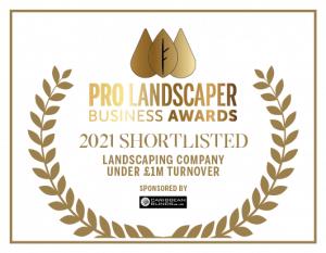 Pro Landscaper Award Nominee 2021 - landscaping company under 1m turnover