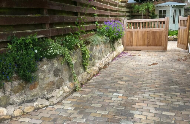 Stone driveway renovation